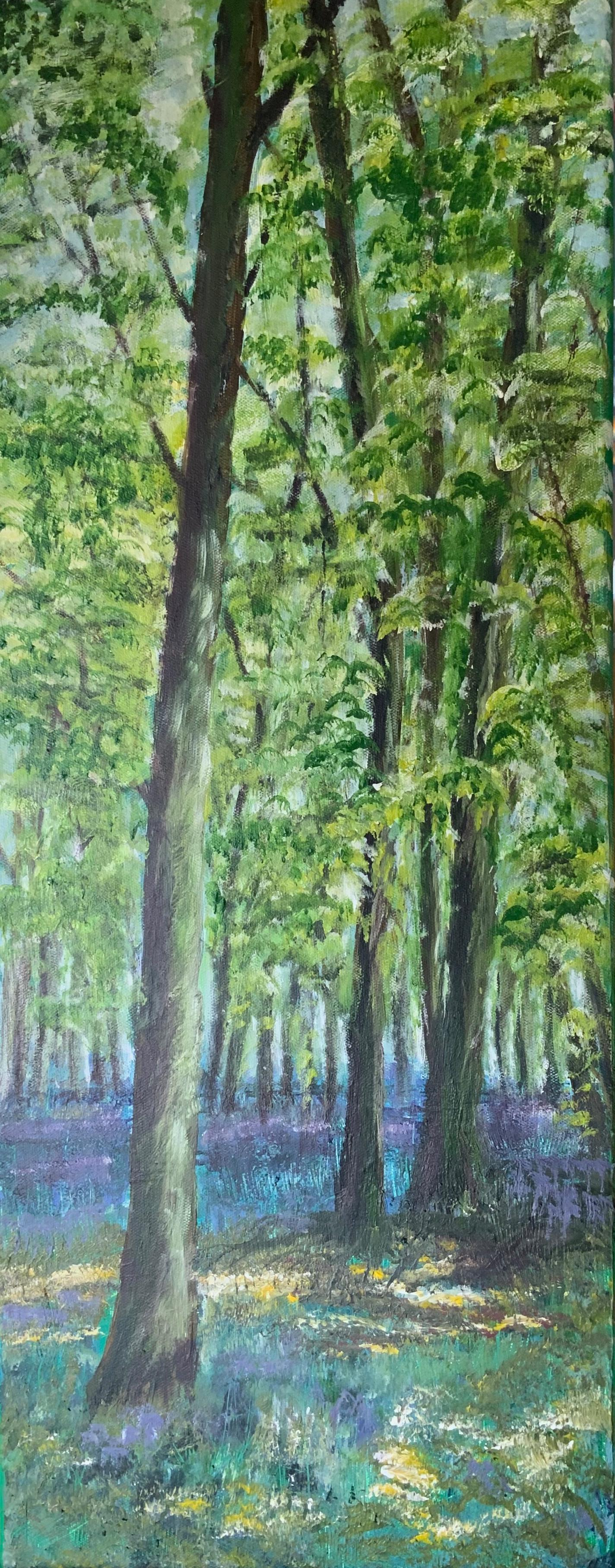 Print 14 - Spring Trees - Size: 140 x 357