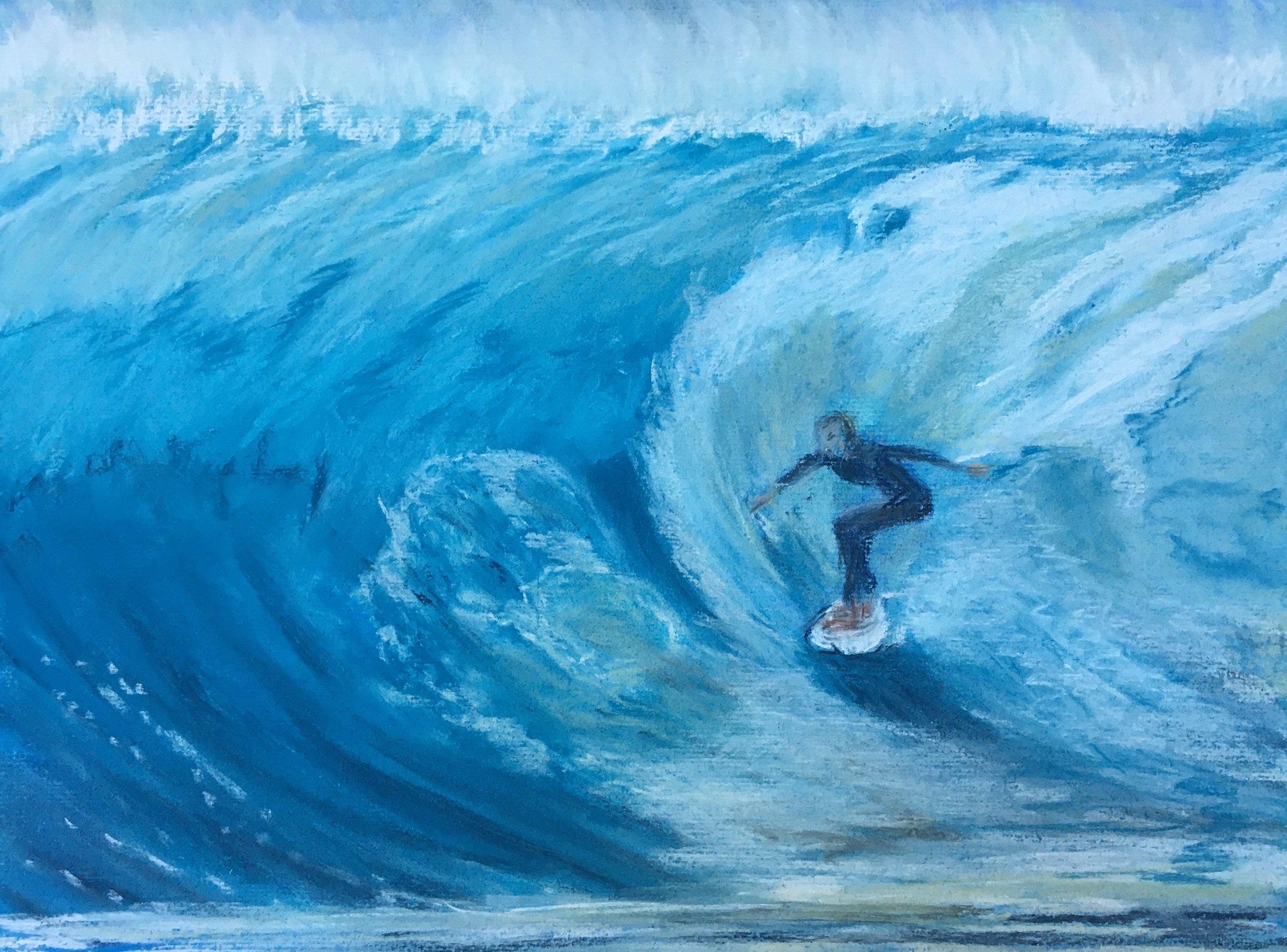 Print 17 - Surfing - Size: 274 x 203
