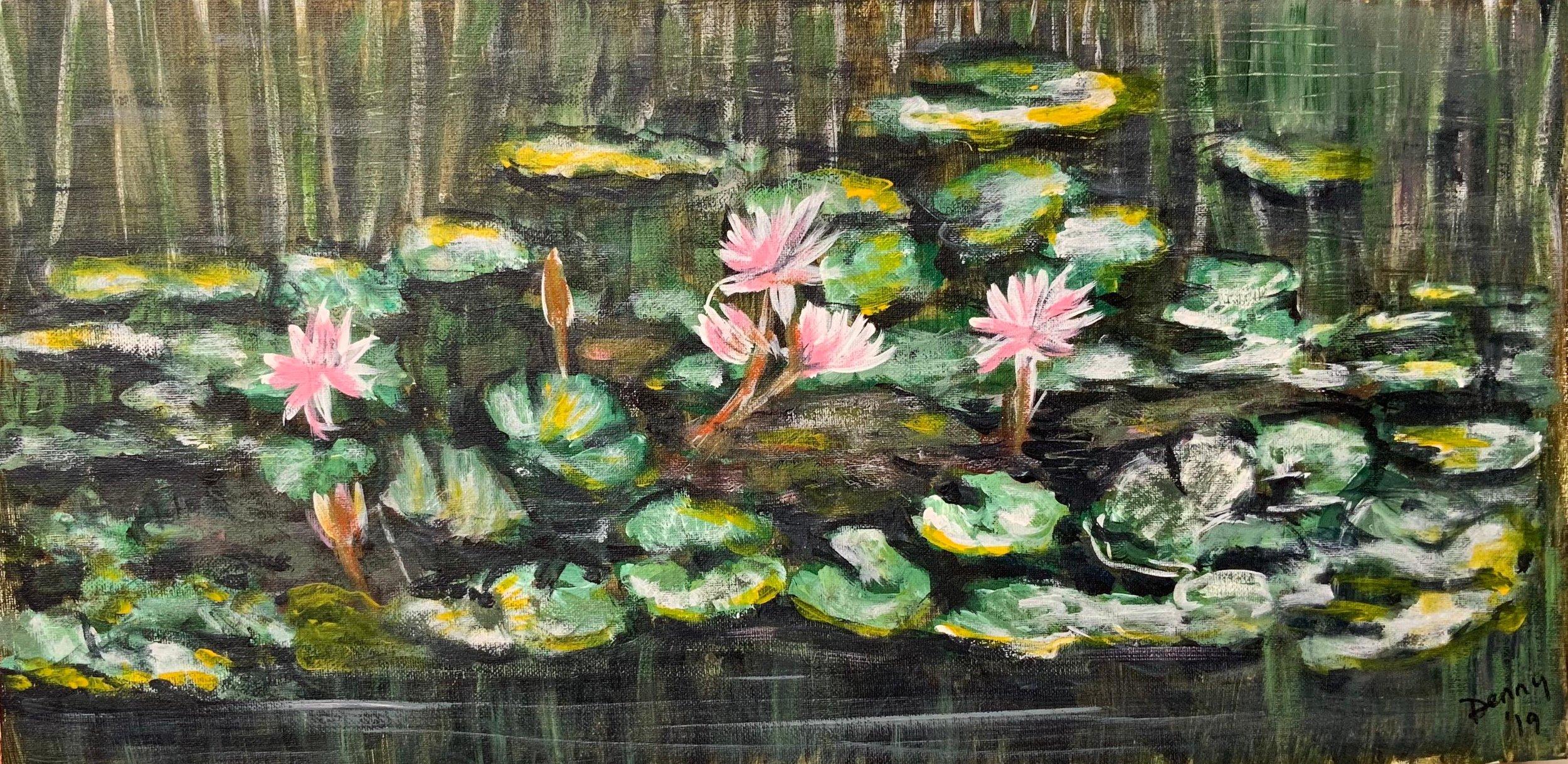 Print 22 - Waterlilies - Size: 350 x 171