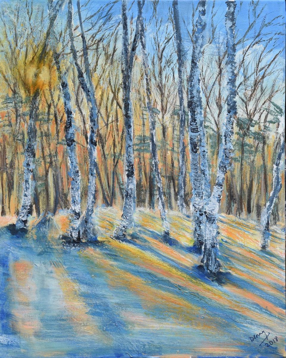 Print 23 - Winter Birches - Size: 230 x 288