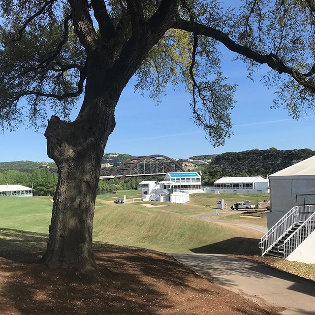 My office view today. Helping break down tv equipment from the golf tournament that took place out here at the Austin Country Club this last week.