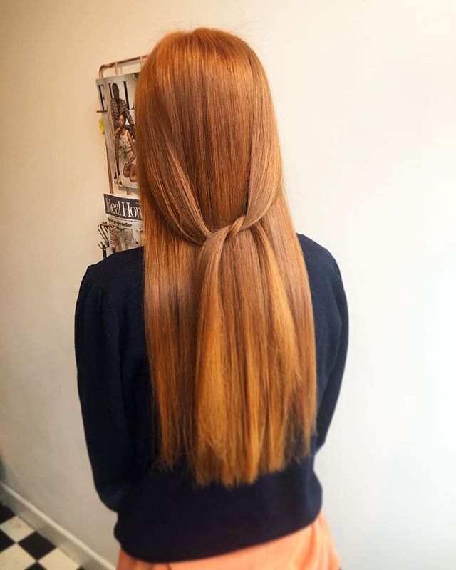 Stunning copper creation today • Fabulous @wellahair colours working their magic