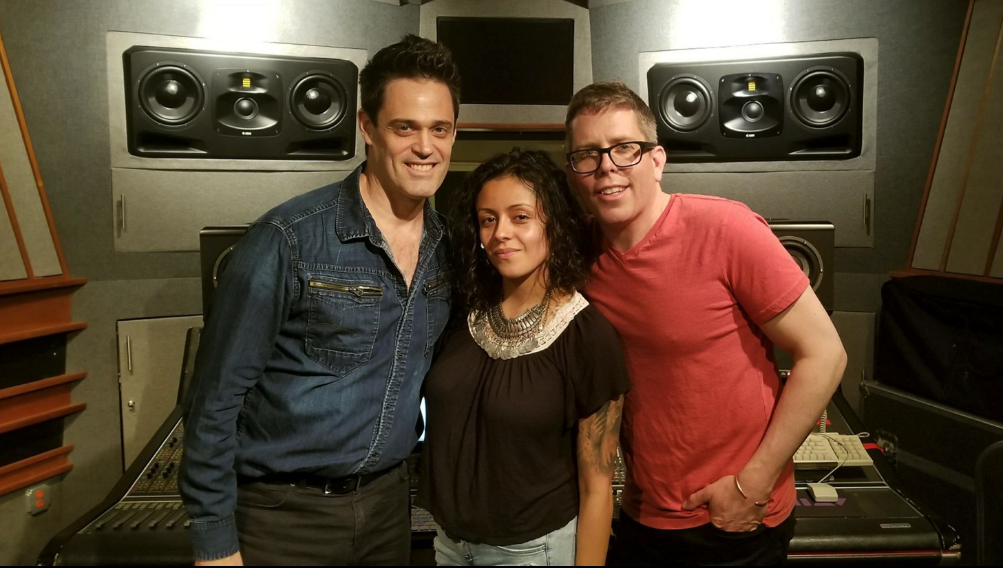 Roman Rojas and Fran Cathcart of Eastsidepunks with Isabela Raygoza.
