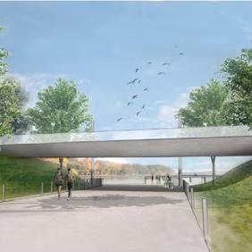 Princeton Pedestrian Bridge—On Hold