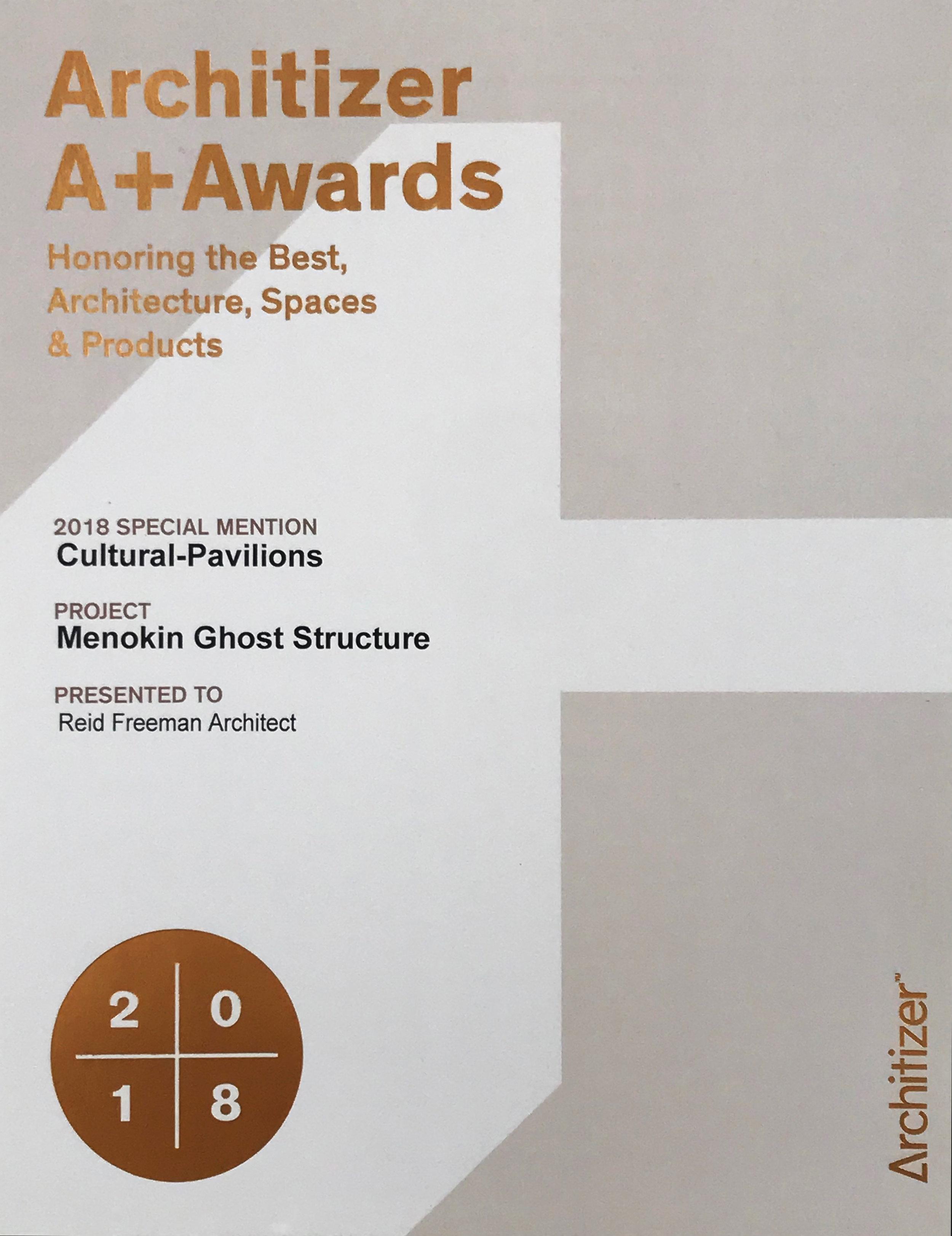 Architizer A+Awards 2018