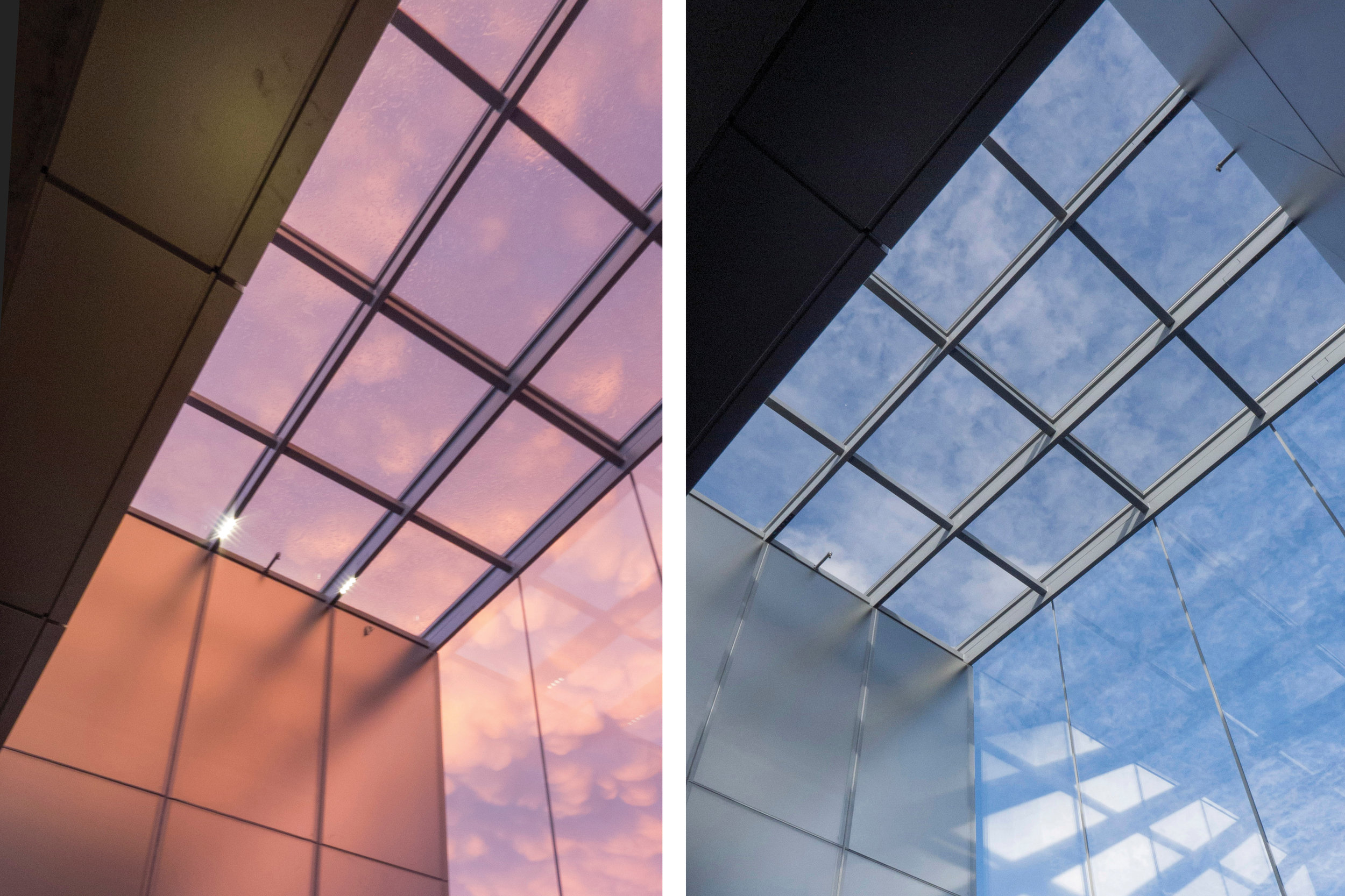 DIFFUSED SIDE WALLS RESPOND TO CHANGING SKY AND CONDITIONS