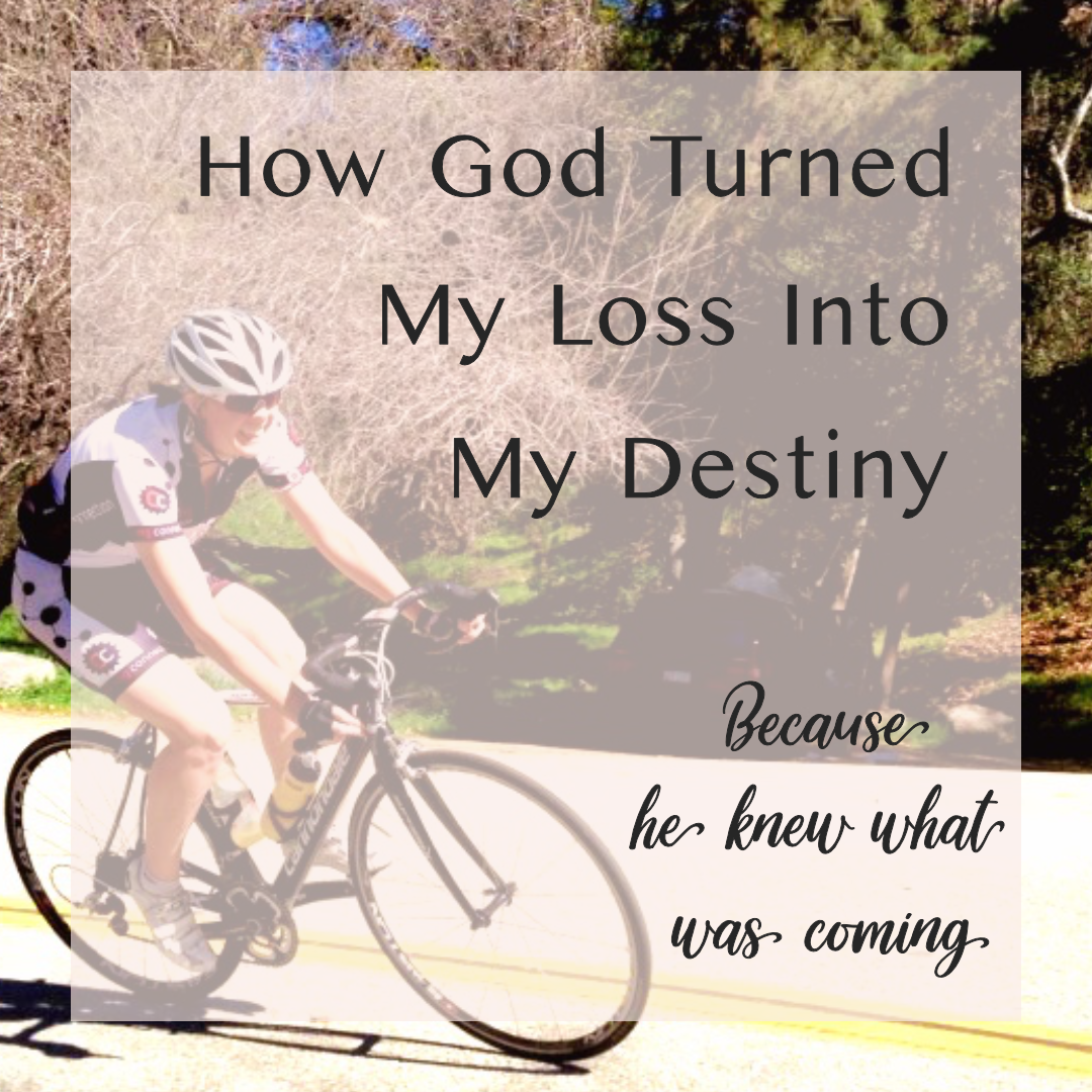 """When I lost my cycling to adrenal fatigue, God turned my """"Riding"""" into """"Writing … which became the provision I didn't know I'd need, and the freakishly awesome destiny I didn't know I was called to. ~ Jenna Dexter 