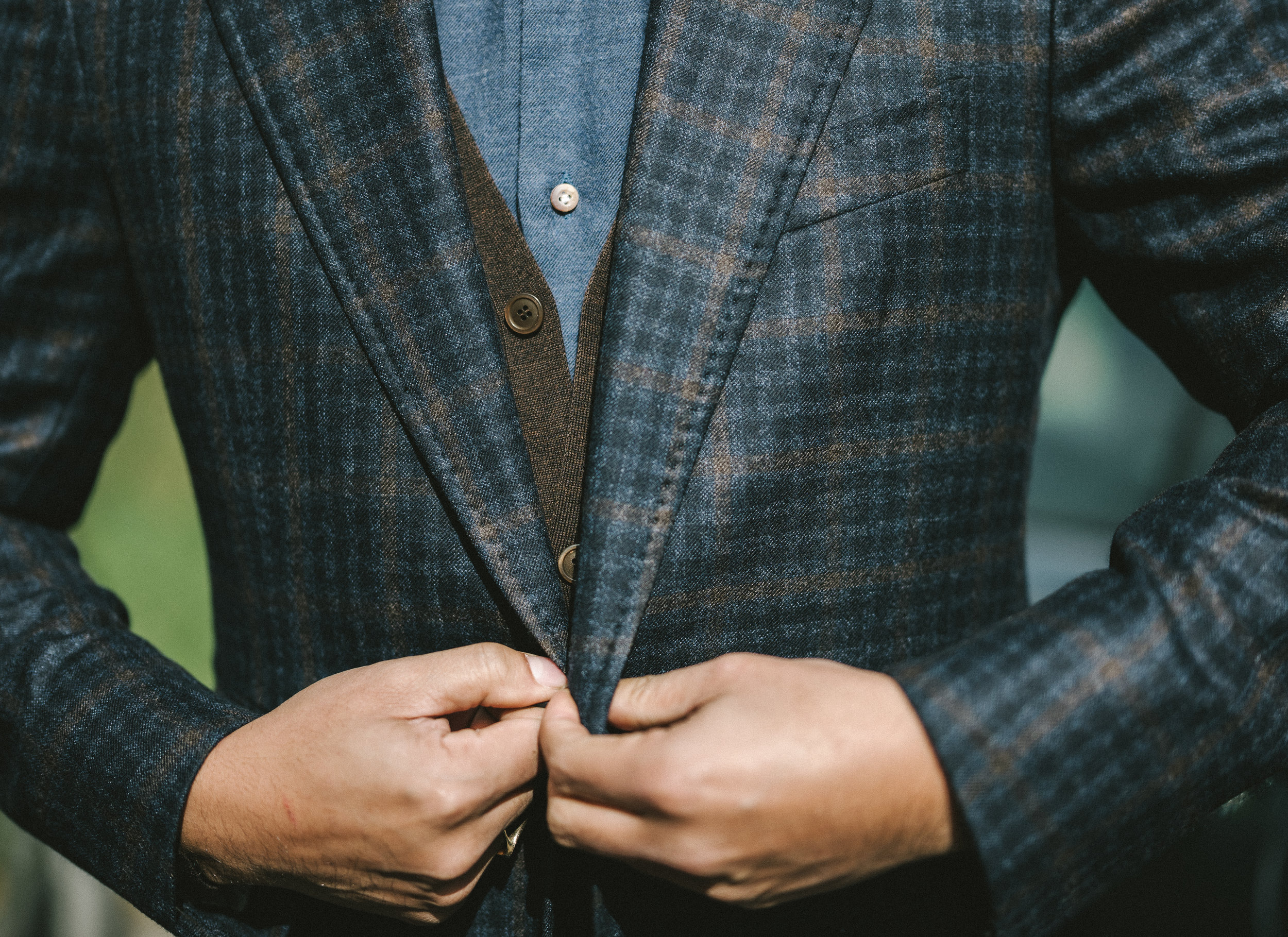 Stile Latino - Wool Over-Check Sports Jacket