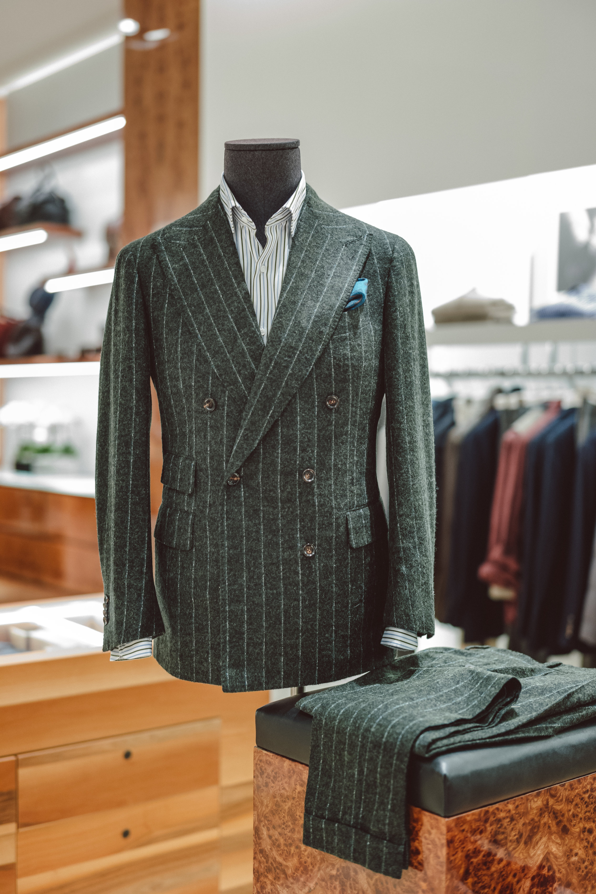 Custom Made-to-Measure suit from our recent Stile Latino Trunk Show