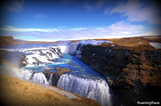 The Golden waterfall or Gulfoss, Iceland