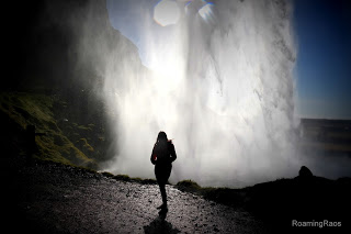 Right behind the waterfall, Iceland