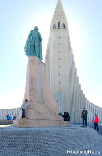 Hallgrimskirkja - Can you spot our little monkey?