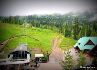 View from our balcony, Kicking Horse Mountain Resort