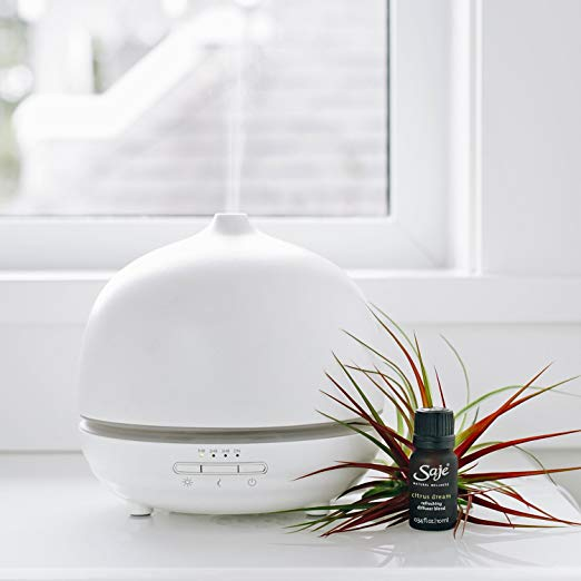 I have 2 diffusers running in my home at all times. They have a 12 hour run time.  Saje aromaOm Deluxe Essential Oil Diffuser, Ultrasonic Aromatherapy Diffuser   SHOP HERE