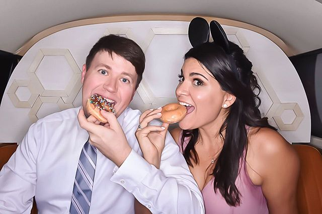 Donuts in a photo booth, what more do you want?! Happy National Donut Day! 🍩