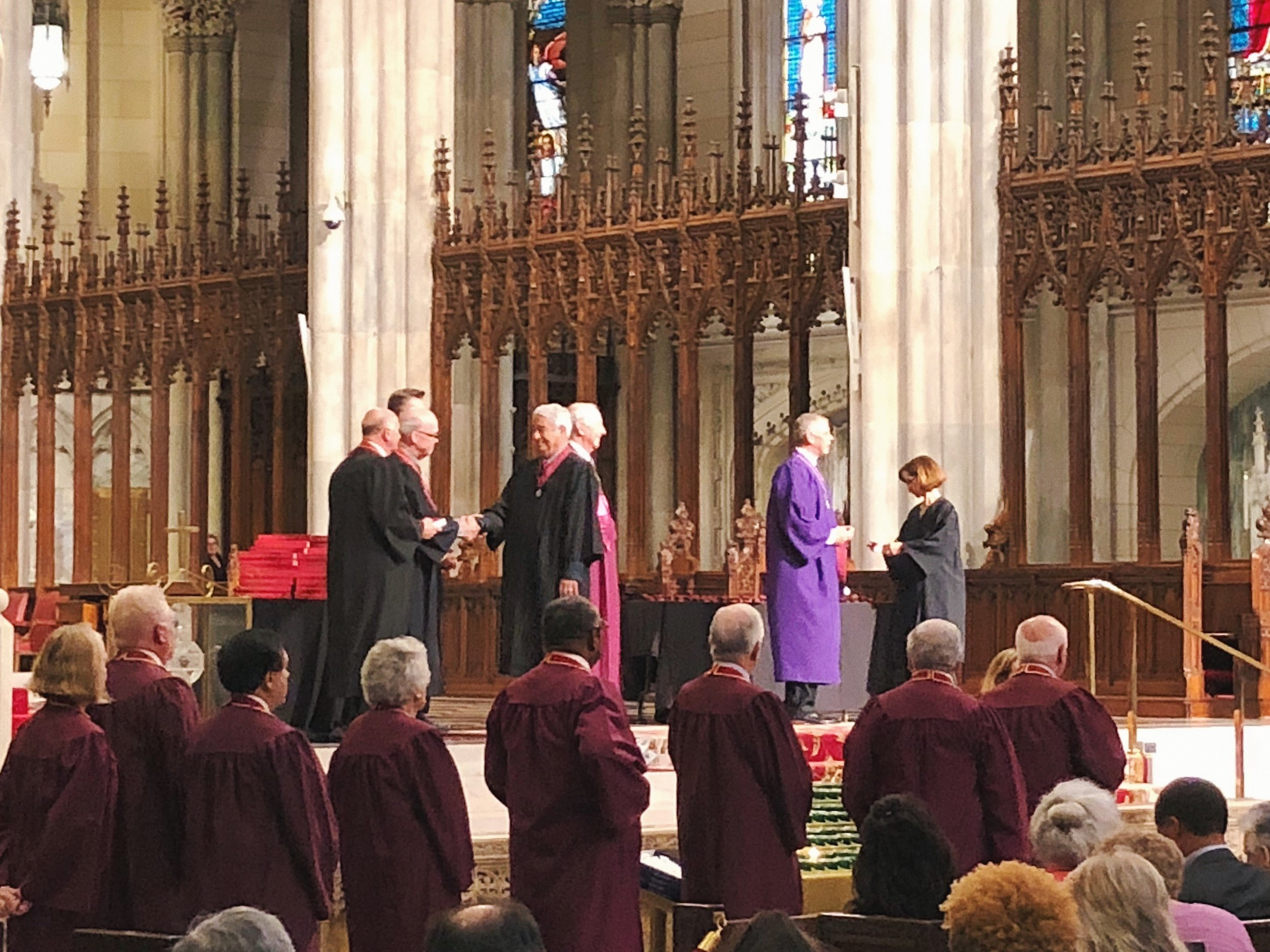 Joe receiving his medal at the AIA College of Fellows Investiture Ceremony at St. Patrick's Cathedral in New York City on June 22, 2018 | Photo: Matthew Kelley (FF&P New York)