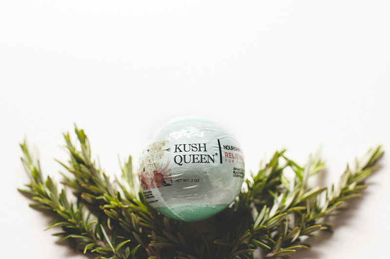 Kush Queen Shop Relax CBD Bath Bomb, perfect for your CBD post workout recovery!