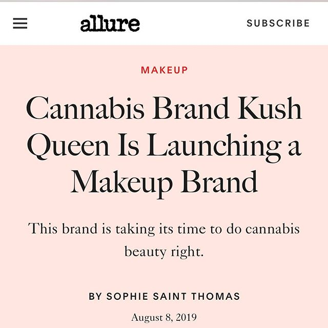 Read about it ✨ Swipe up through our story! Thanks @allure @thebowiecat @rosadona #kushqueen #KingdmCosmetics