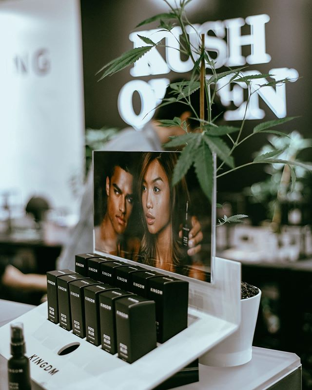 Yesterday was a dream ✨ We are so excited for day 2! Come to booth 410 For FREE sample packs and to shop 50% off , and experience KINGDM The CBD primer! #kushqueen #beautycon #beautyconLA