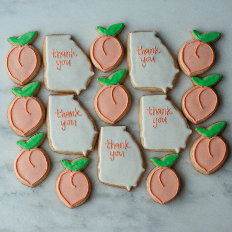 State of Georgia and Peach Cookies.jpg