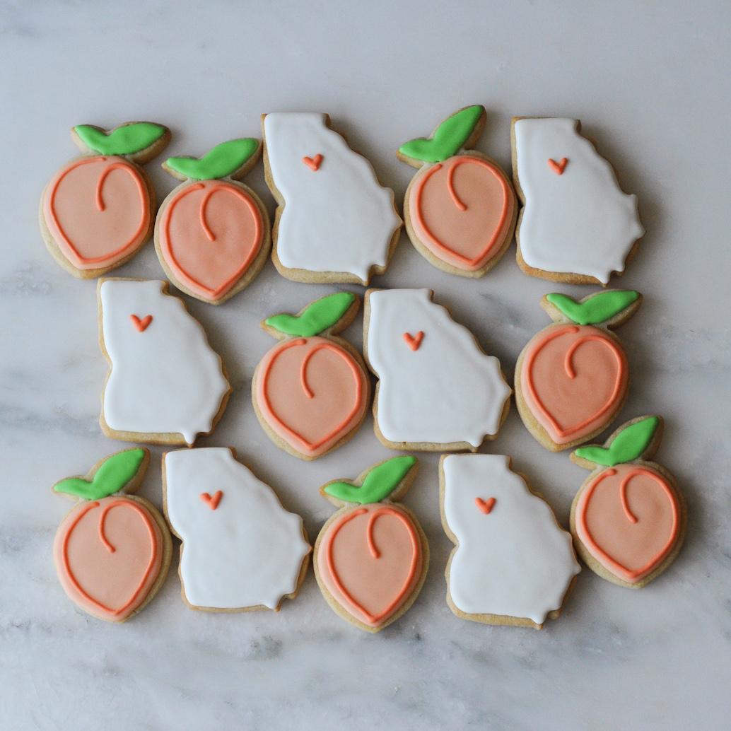GA State and Peach Cookies.jpg