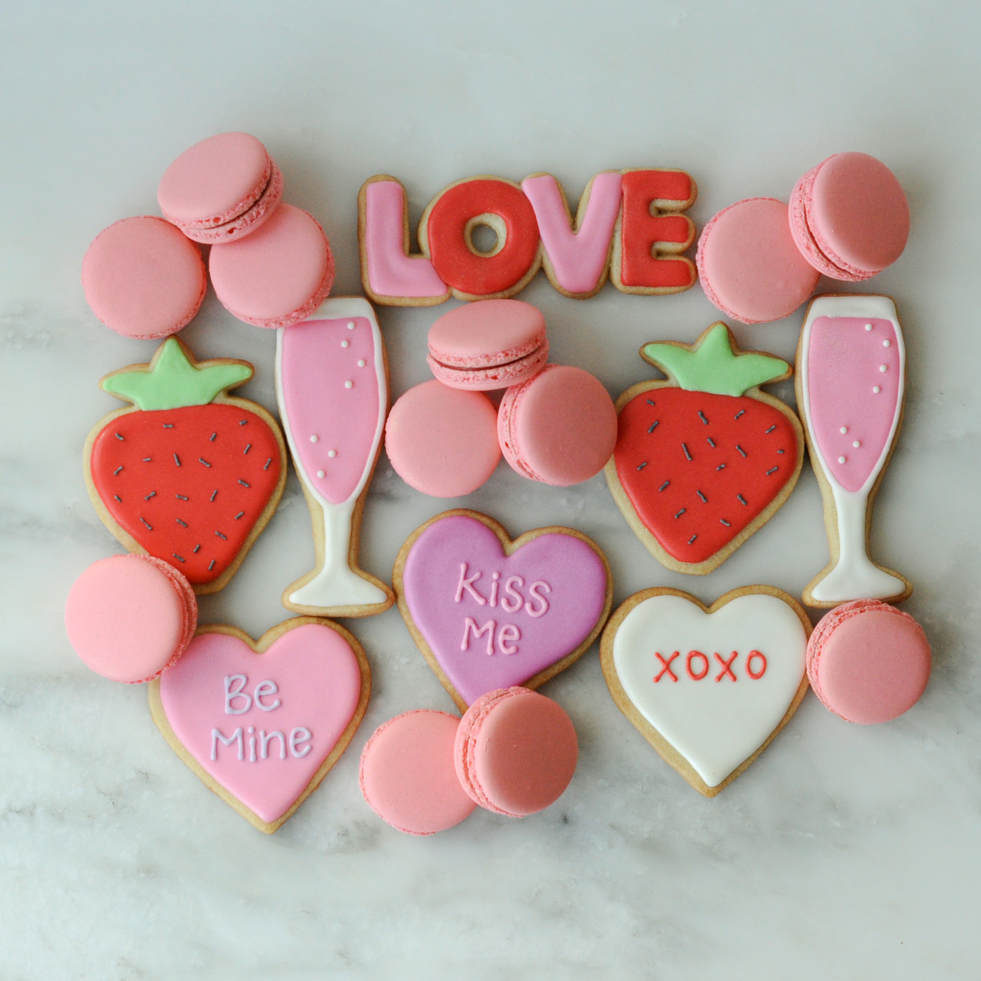 Strawberry Champagne Cookies and Macarons.jpg