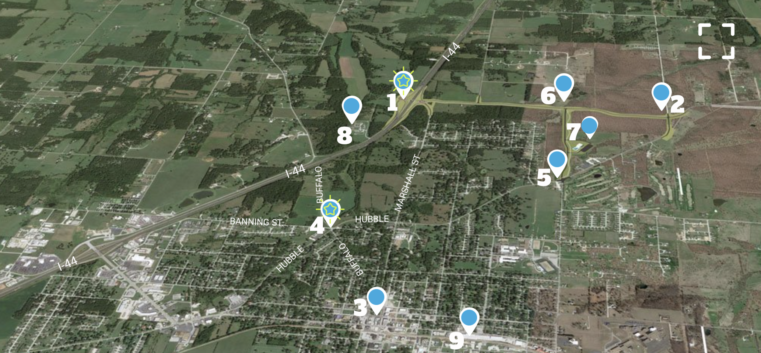 Marshfield MO Map