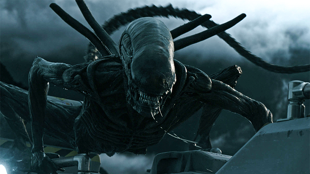 H.R. Giger-inspired extraterrestrial in  Alien: Covenant