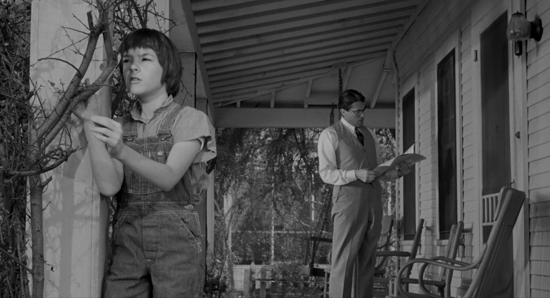 Mary Badham and Gregory Peck in  To Kill a Mockingbird