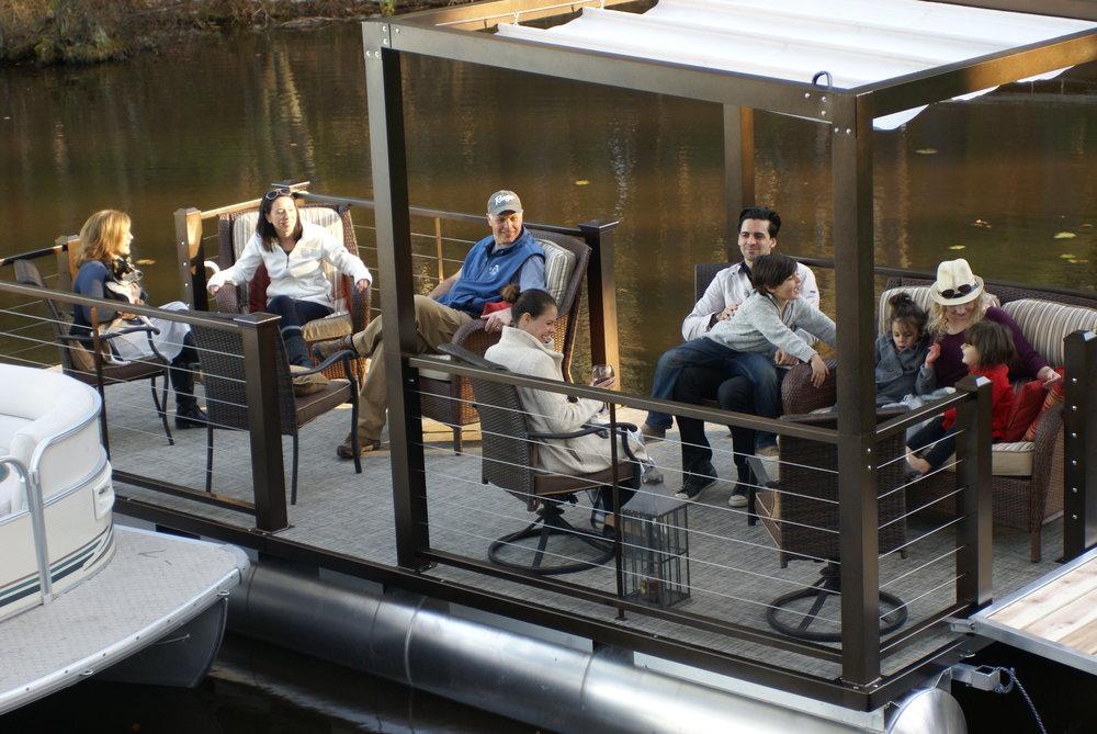 Lake Lounger 22 ft Pontoon Boat Family.JPG