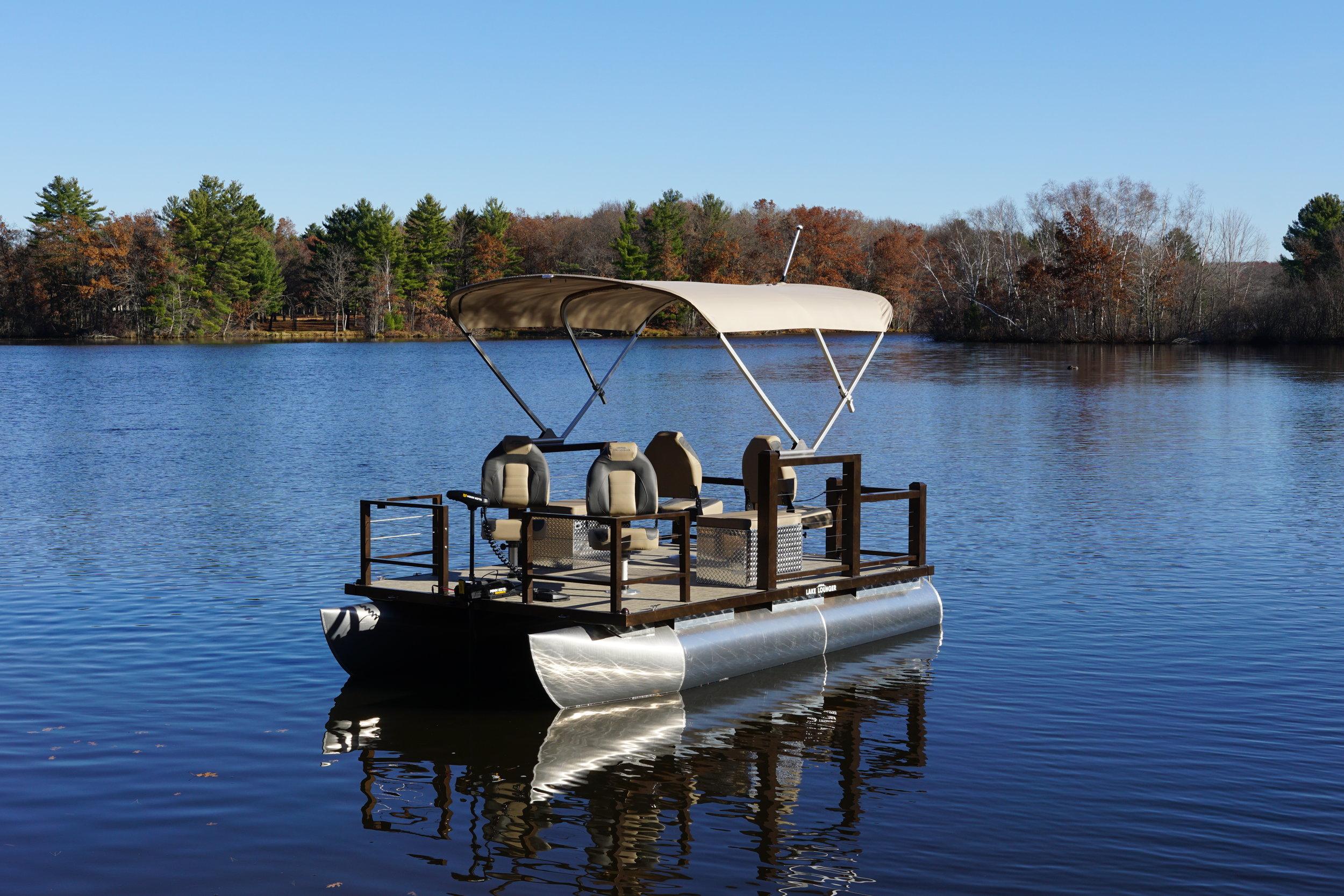 Lake Lounger 13 ft Fishing Pontoon Four Seats Standard.JPG