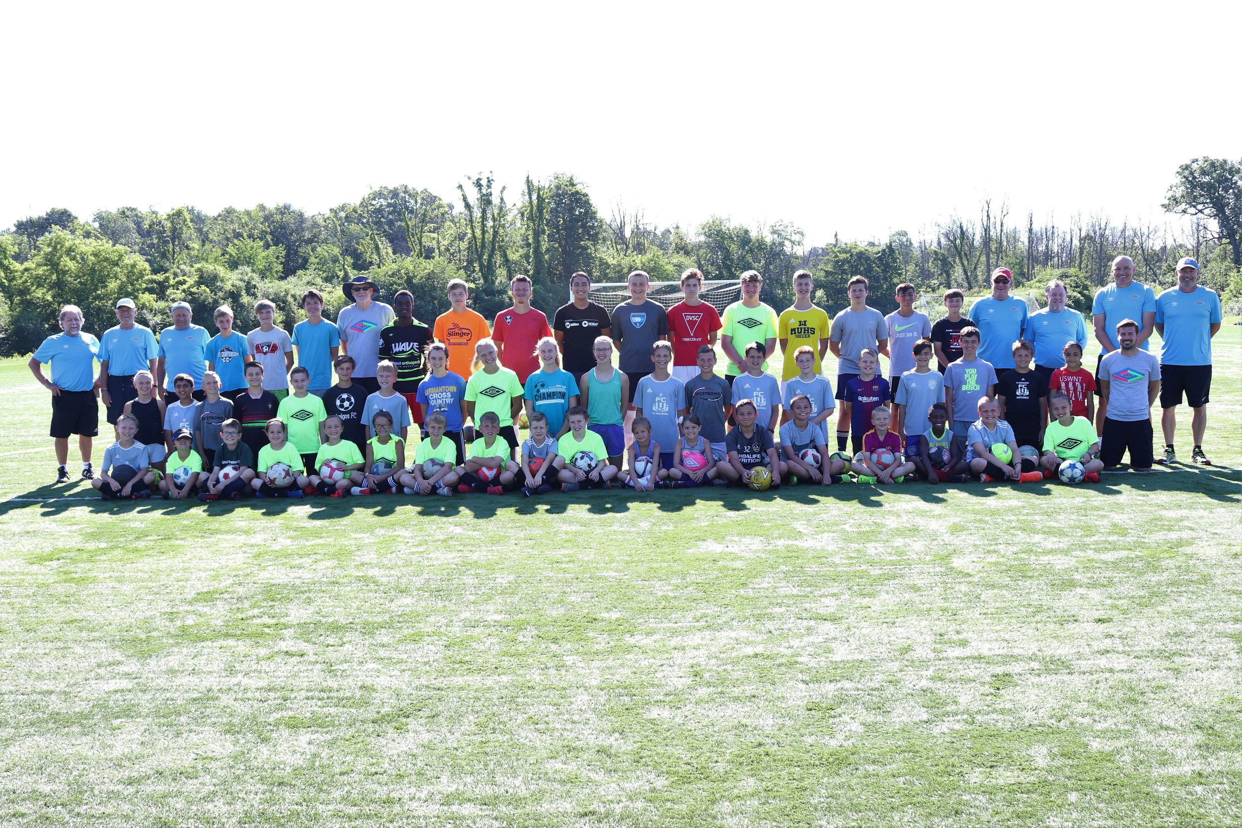 The camp photo with a few players missing because they could not be there on Friday when we took the photo.