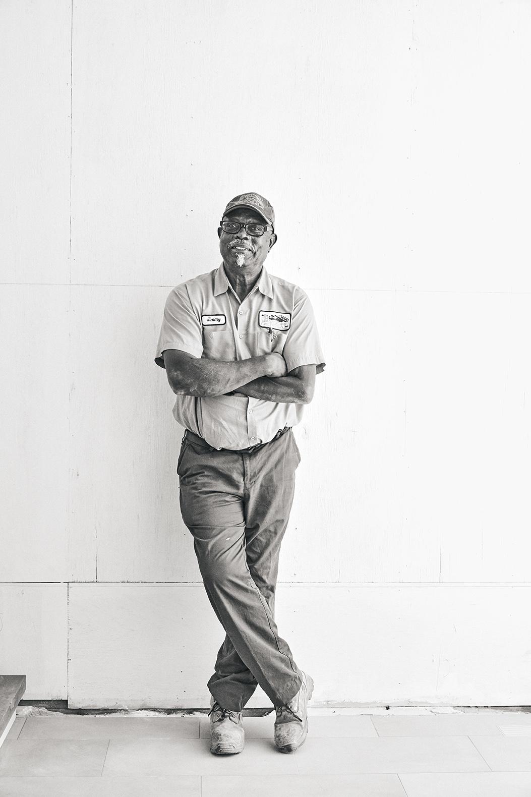 Jimmy Washington  |Moore Disposal  Truck Driver. 36 remarkable years at job.Loves the Cowboys and Bingo.