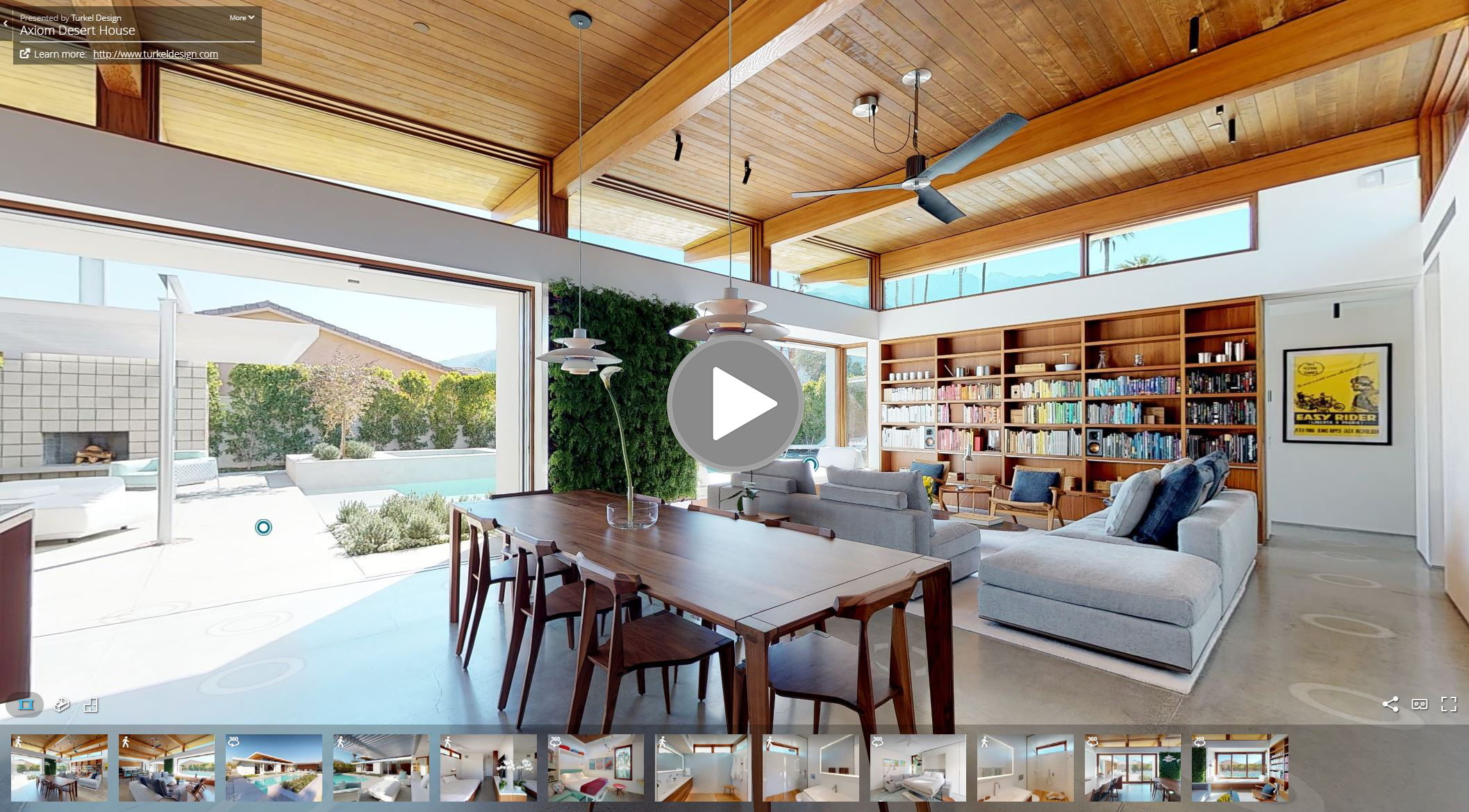 Self-Guided Interactive 3D Tour of Axiom Desert House