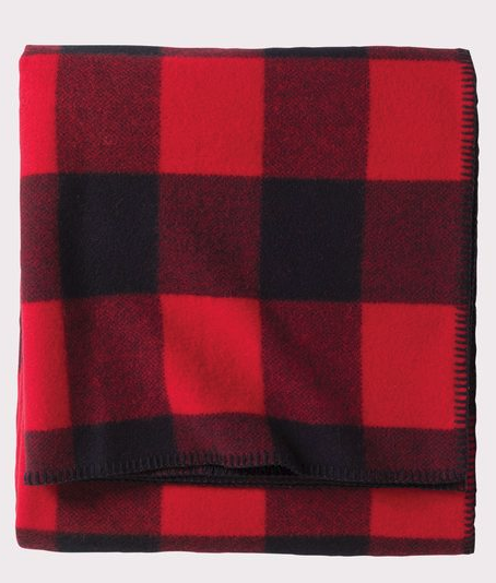 Pendleton red and white checkered blanket