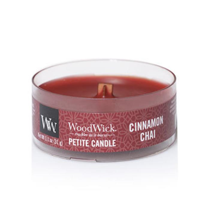 Cinnamon Chai Woodwick Petite Candle
