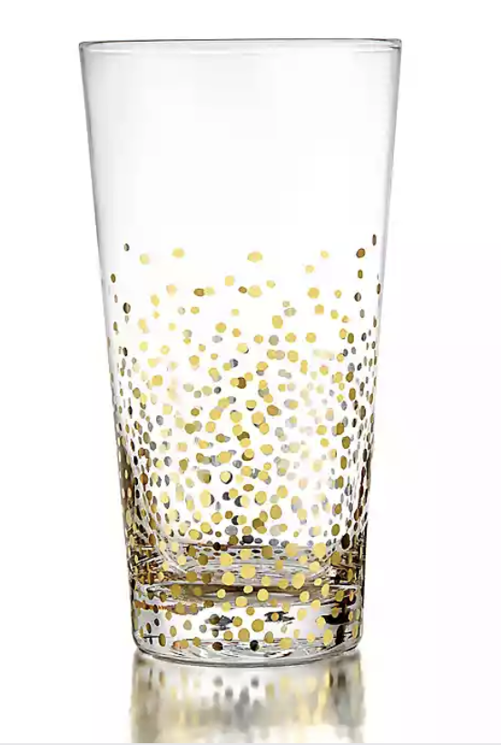 gold highball glasses - gold confetti glasses - bed bath and beyond decor - bed bath and beyond drinking cups - halloween decor - halloween home decor - halloween decorating ideas - halloween party ideas