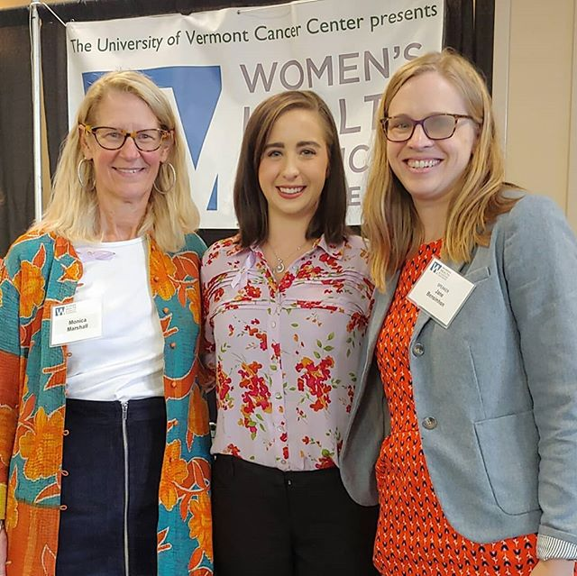 Did you know that the Women's Health and Cancer Conference is a free community event that takes place every year? You get to meet amazing non-profit leaders like Monica Marshall (Mahana Magic) and Jane Bensimhon (Maggie's Brightside) among countless others. ♥������� ������ I had the opportunity to learn more about different types of cancer, treatment, and prevention methods and to speak to patients and survivors about their experience. On this day, I found myself particularly lost in thought. I was thinking about my uncle who we lost on Christmas day to cancer and my mom who was lucky enough to catch cancer early. My heart absolutely breaks for those battle with this everyday.� It was incredible see people writing their loved ones names. It made me smile to know that those struggling have a support system. I can't imagine going through something like cancer without one. �� ����� There is so much cancer research being conducted at UVM right now. I spent a good amount of time talking to a researcher about his finding on a new drug xSSAT's (third picture) that he's developing to kill cancer cells and leave healthy ones alive. Of course, I brought up the fact that cannabis can potentially do the same and we agreed that it's a shame there can't be more research on it due to legality. I'd also love to see more research on diet and nutrition at the next conference too because as we know that sugar feeds cancer! ������ ������ I highly recommend this event to everyone. We all know someone who has been affected by cancer. The best thing we can do is to be informed and proactive with our care.