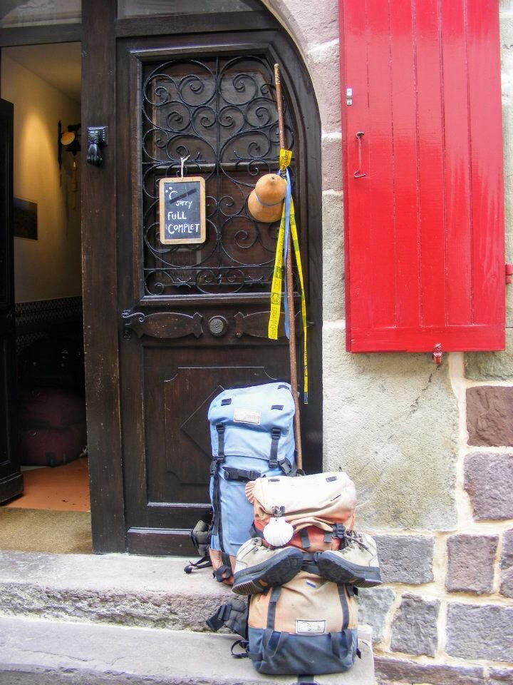 Door to guest house, St Jean Pied de Port, at the very start of the Camino Frances - the traditional Camino route