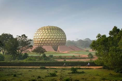The Matrimandir in Auroville, South India
