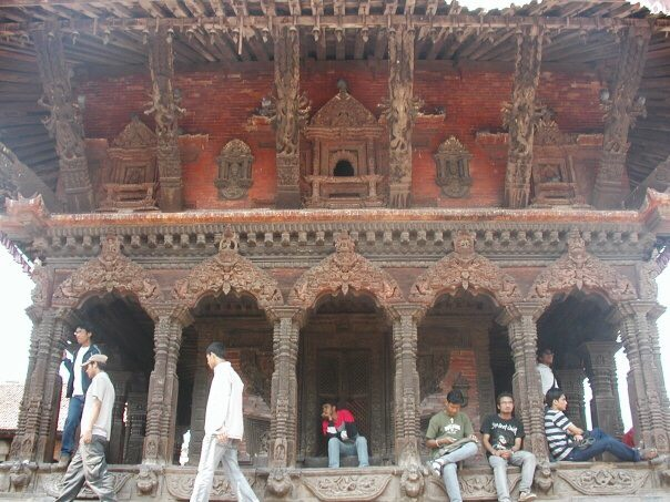 An ancient, wooden temple in the Durbar Square, Kathmandu, Nepal.