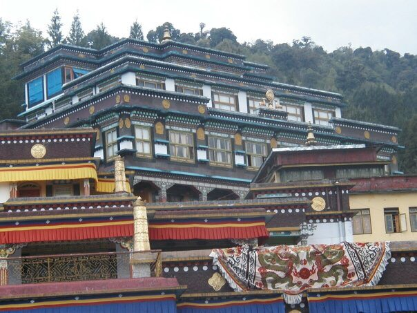 A remote monastery high up in the Himalayas.