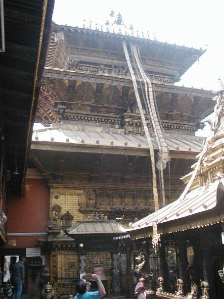 An ancient Hindu temple in Kathmandu.