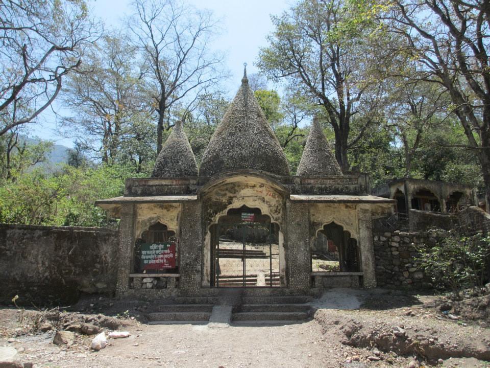"The main entrance to the ""Beatles Ashram"" in Rishikesh, India. Also known as the Maharishi Mahesh Yogi Ashram."