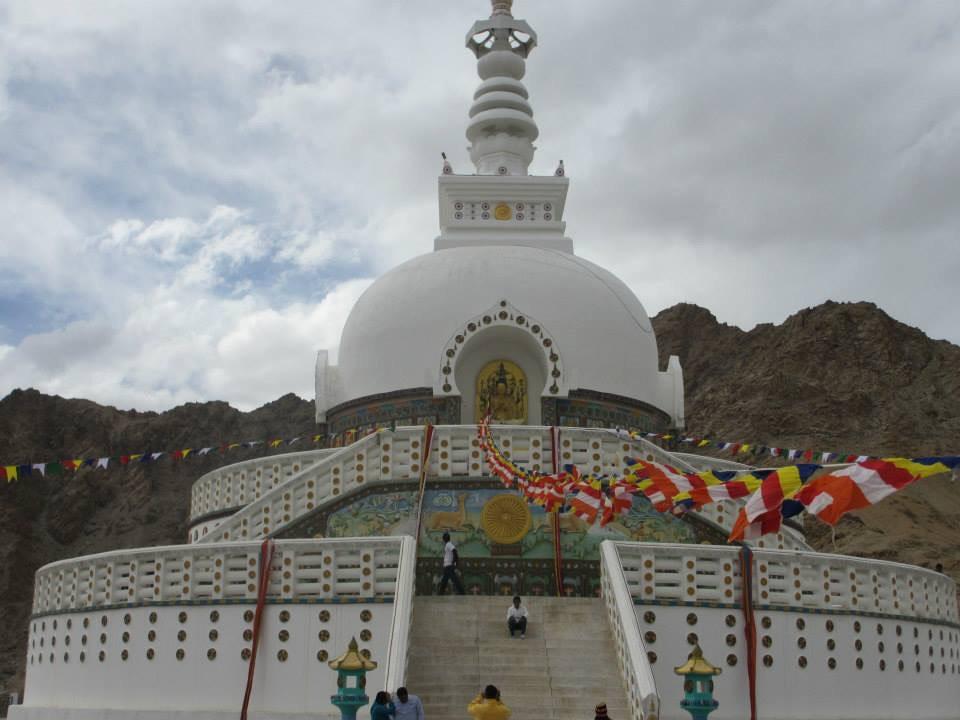 A Buddhist stupa above Leh, Ladakh.