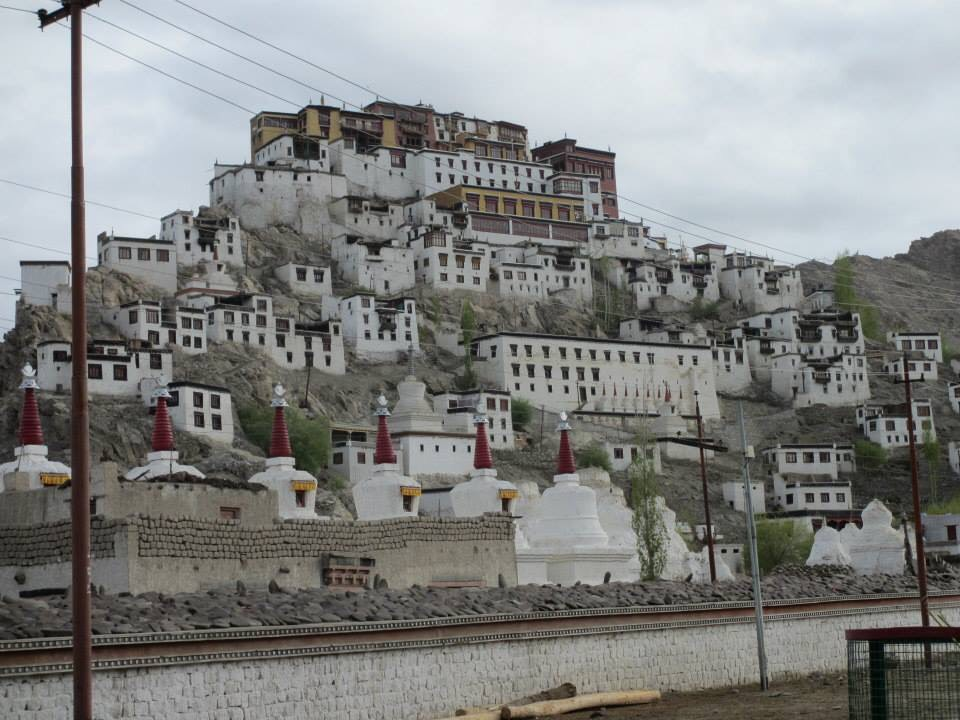 A remote monastery high up in the Himalayas, near Leh, Ladakh.