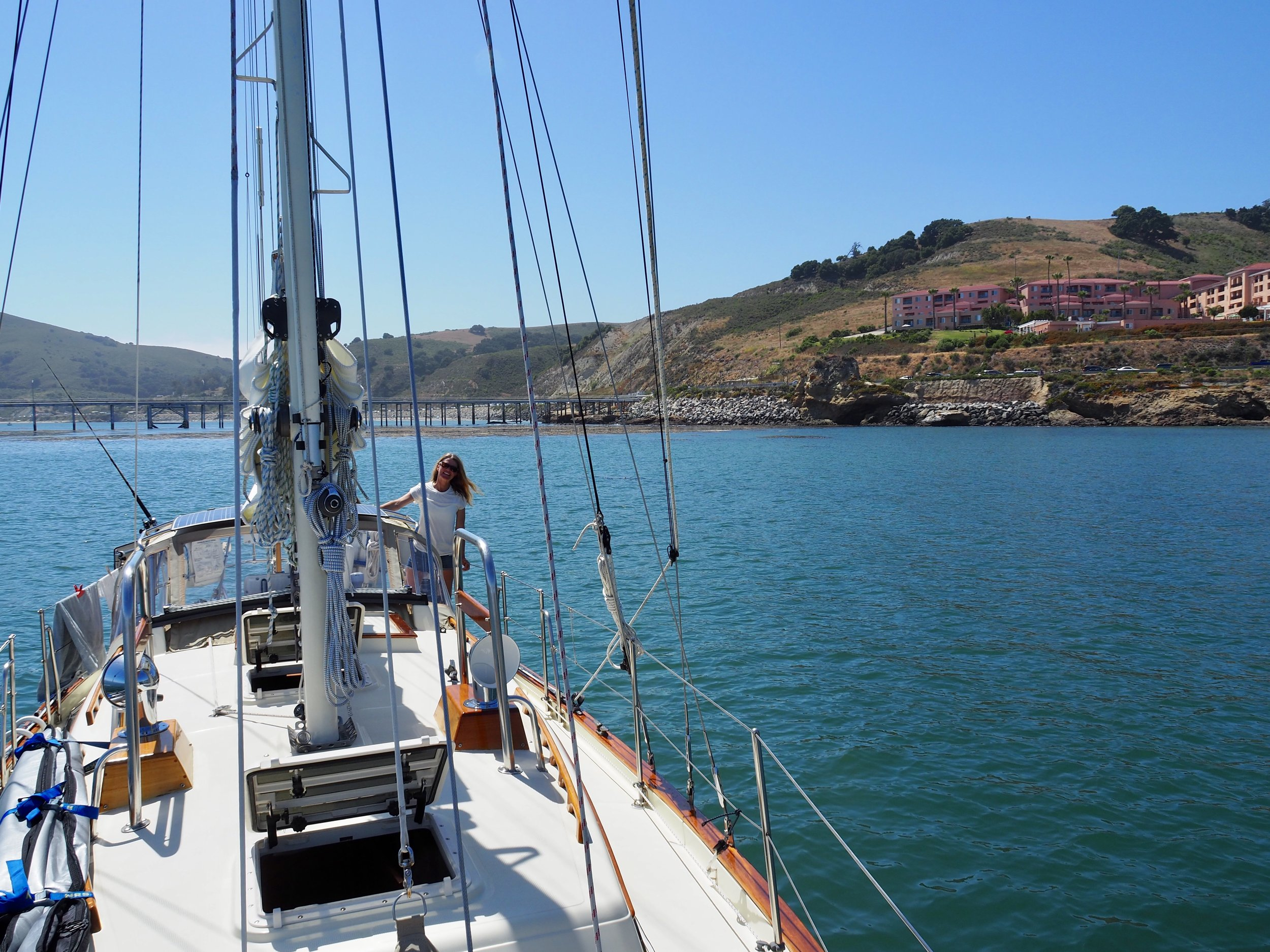 Anchored in Port San Luis, we were glad to have a little R&R