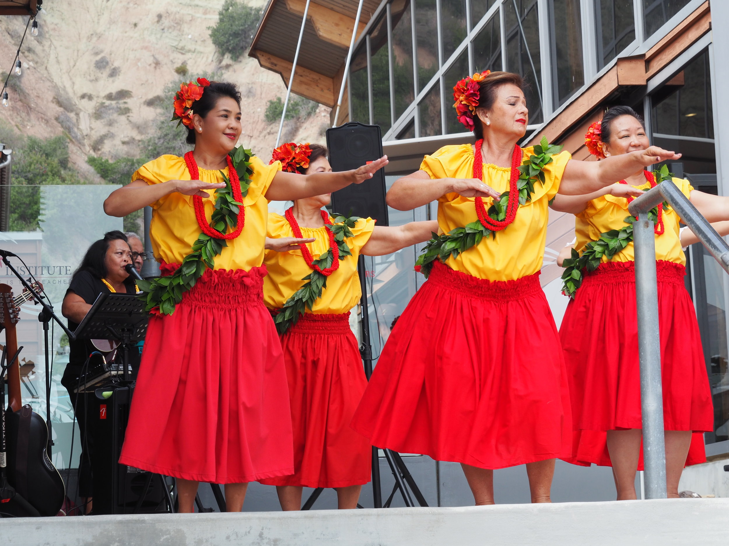 How to better hula music? Add hula dancers! These are a few of the dozens that performed all day.