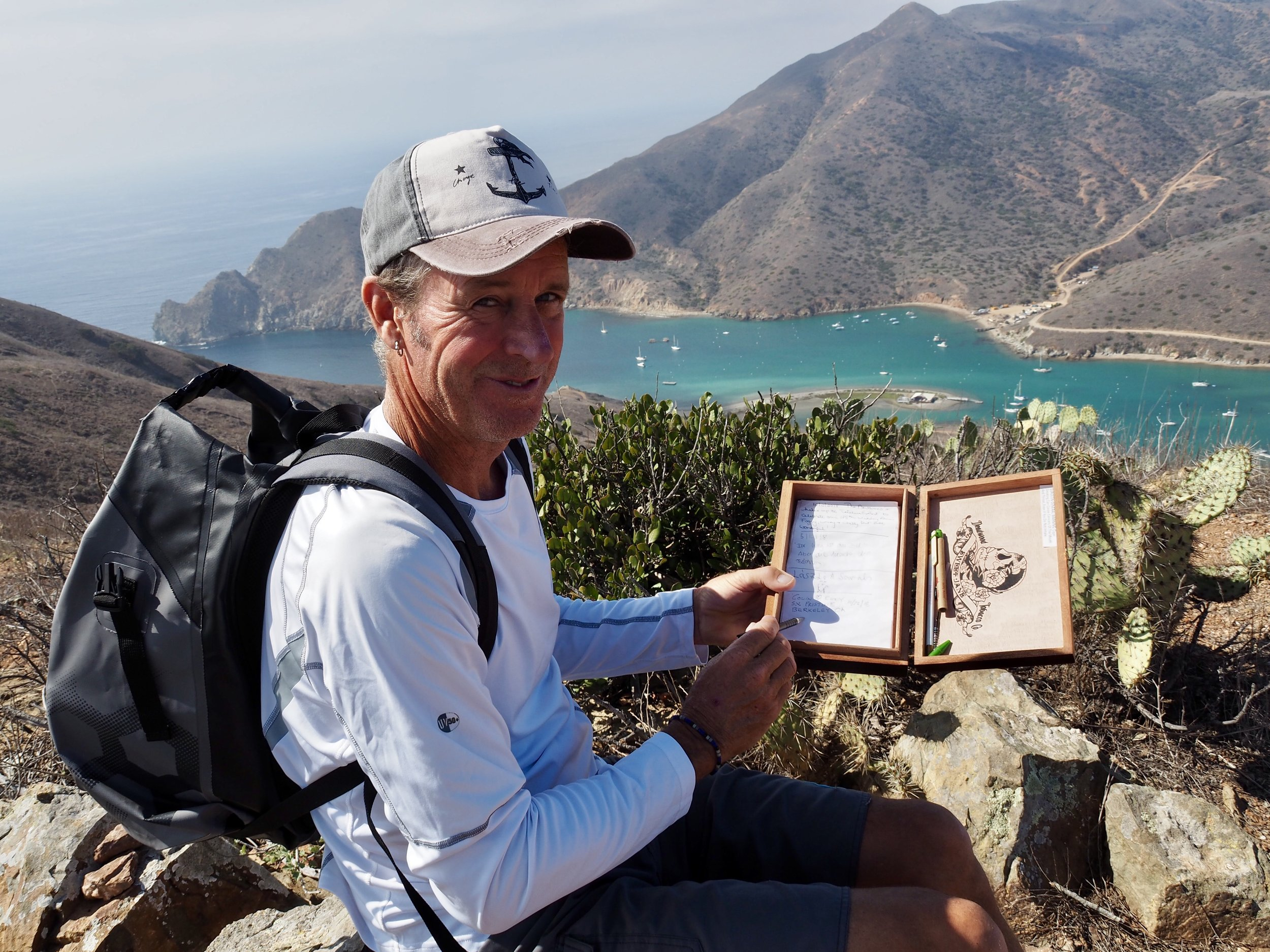Colin entered us in the hikers logbook