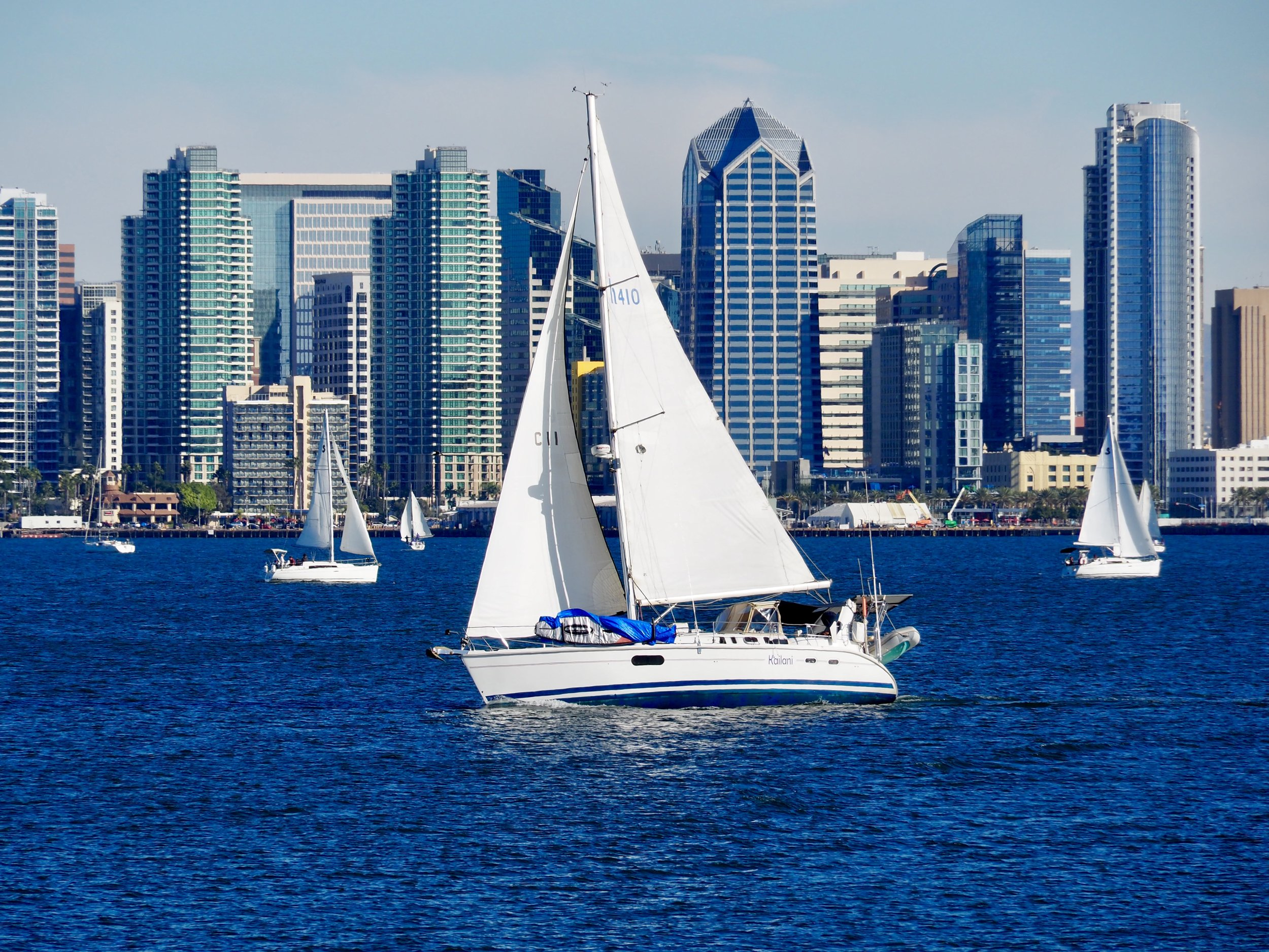 It's 1pm on a random Wednesday in November. If you're in San Diego harbor, it's time to race your sailboat, natch.
